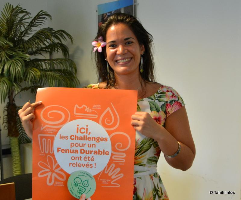 Orama Richaud, conseillère QHSE à la CCISM, organisatrice du Challenge Fenua Durable