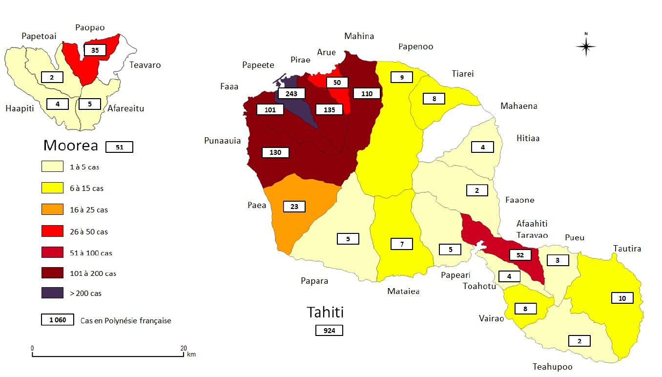 Déjà 1058 victimes de la dengue 2 en Polynésie