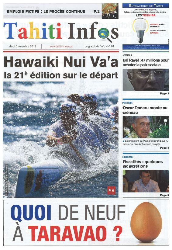 Tahiti Infos : 1 500 numéros et l'aventure continue
