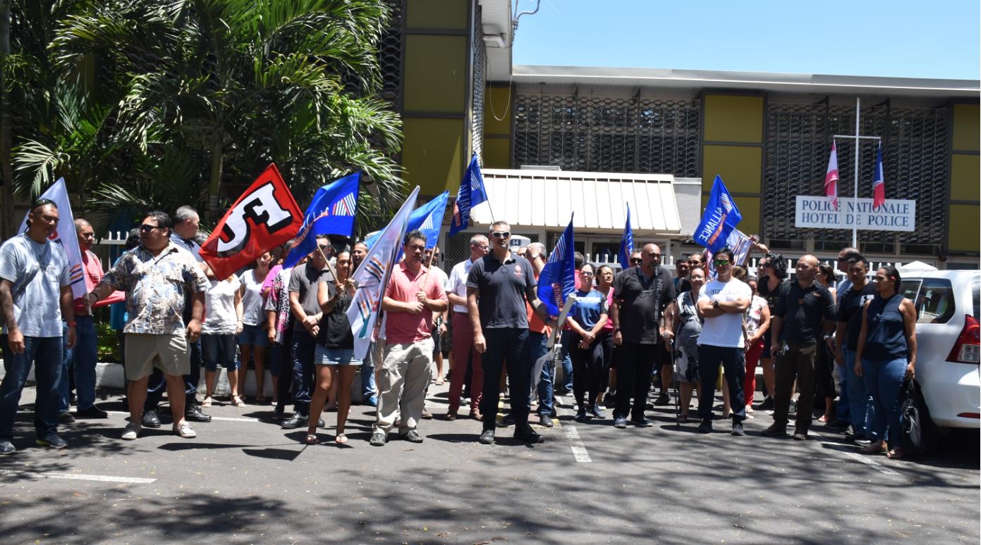 Les policiers ont exprimé leur ras-le-bol devant le siège de la DSP.