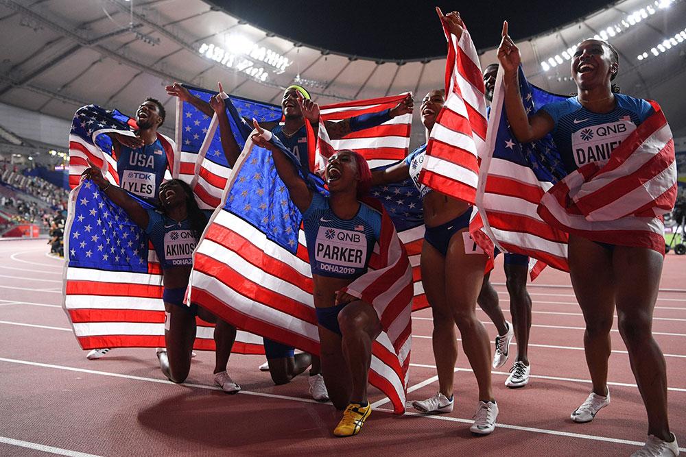 Superpuissance de l'athlétisme, les Etats-Unis ont comme souvent survolé les Mondiaux de Doha, conclus dimanche par des succès sur 100 m haies (Nia Ali) et les relais 4x400 m dames et hommes, égalant leur record de médailles d'or (14).