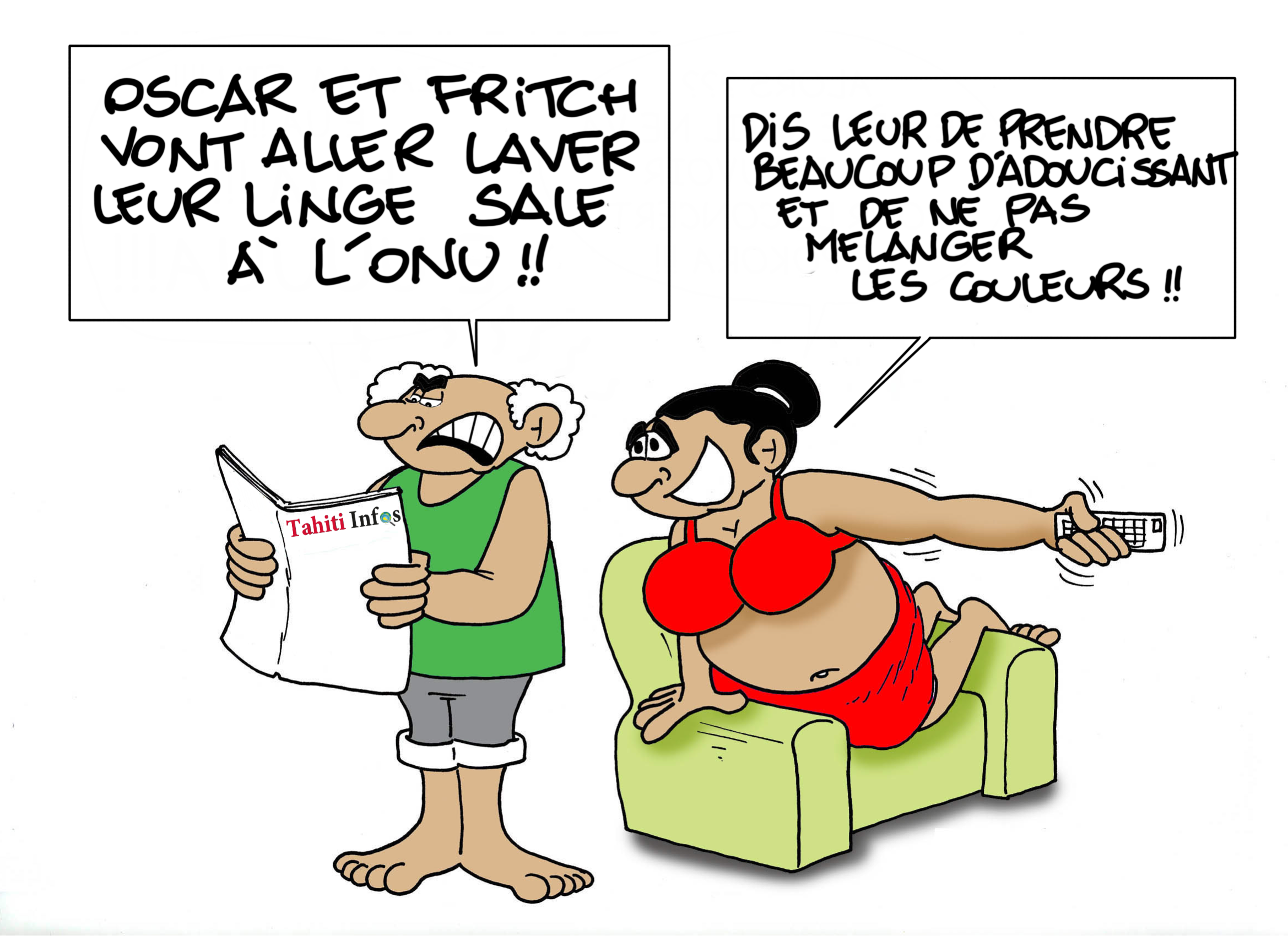 """""""Lessive onusienne"""", par Munoz"""