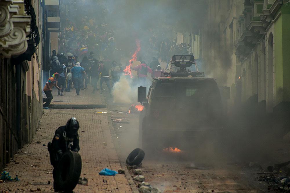 Equateur: manifestation et contre-manifestation sur le prix de l'essence