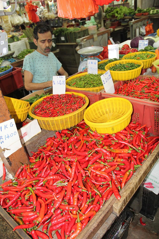 Un étal du Chow Kit Market, le site le plus coloré et le plus parfumé de Kuala Lumpur.