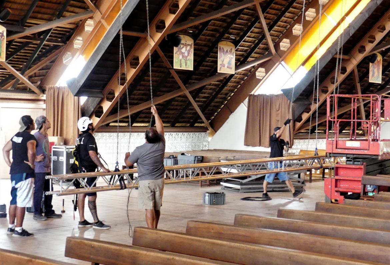 Une messe spéciale est célébrée samedi soir à l'église St-Etienne de Punaauia. Elle sera diffusée en direct sur France 2 en France métropolitaine et au plan local sur Polynésie la 1ère(Photo : Punaauia.pf).