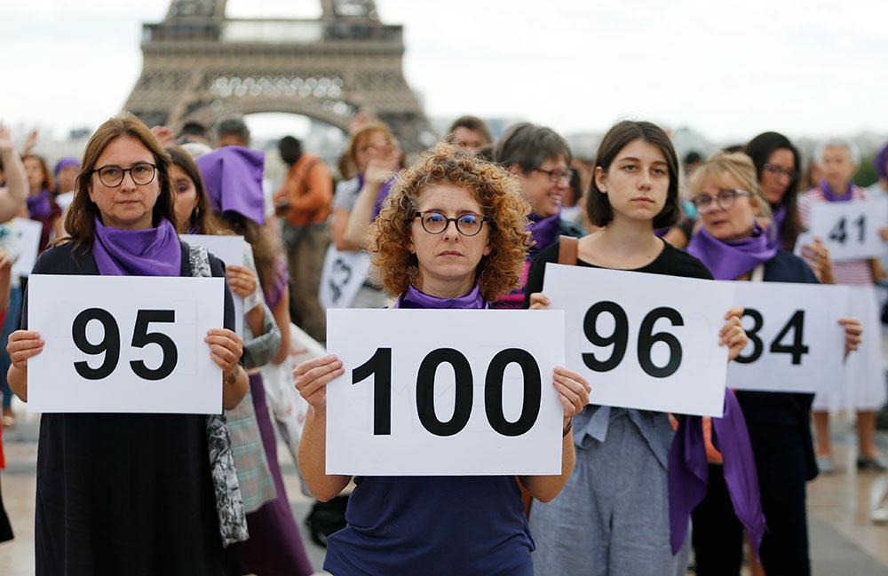 121 féminicides ont eu lieu en 2018, selon les chiffres du ministère de l'Intérieur.