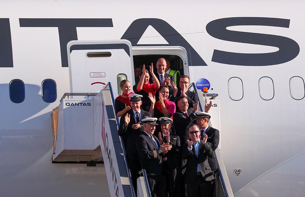 Le plus long vol direct de l'histoire, parti de New York, a atterri à Sydney