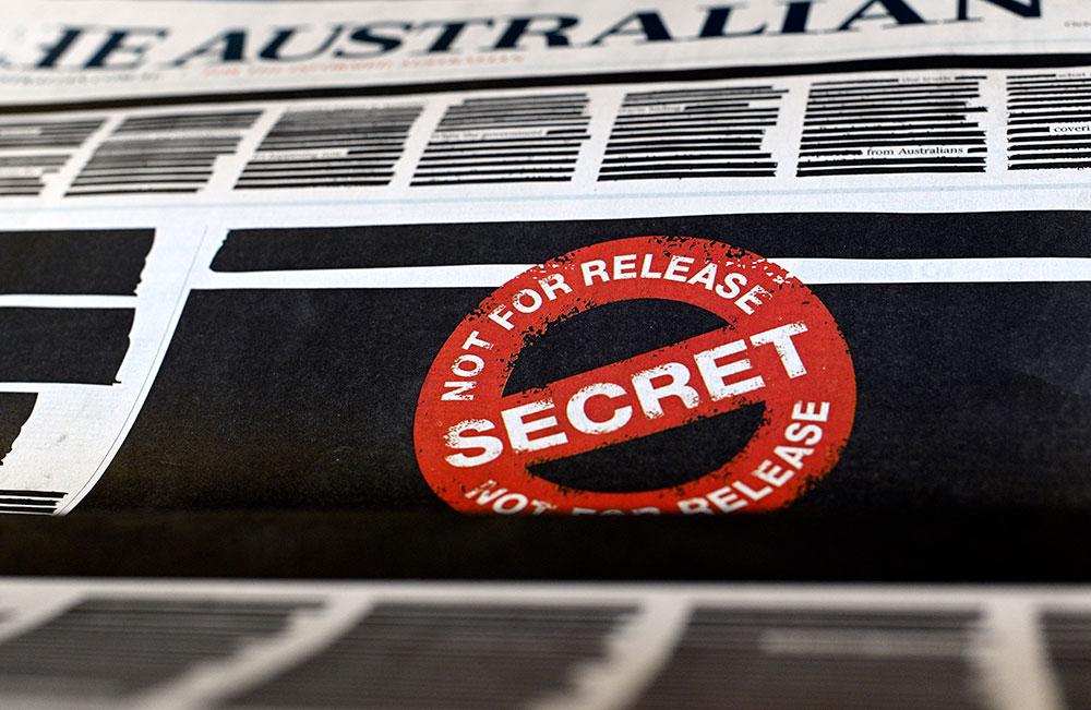 La Une des journaux australiens caviardée pour protester contre la censure