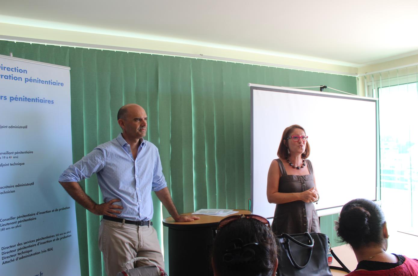 Le directeur adjoint, Maxime Renard et la directrice, Véronique Meunier. Crédit Spip.