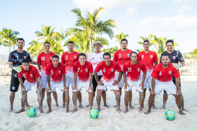 Beach soccer : Les Tiki Toa affrontent les Etats-Unis à deux reprises