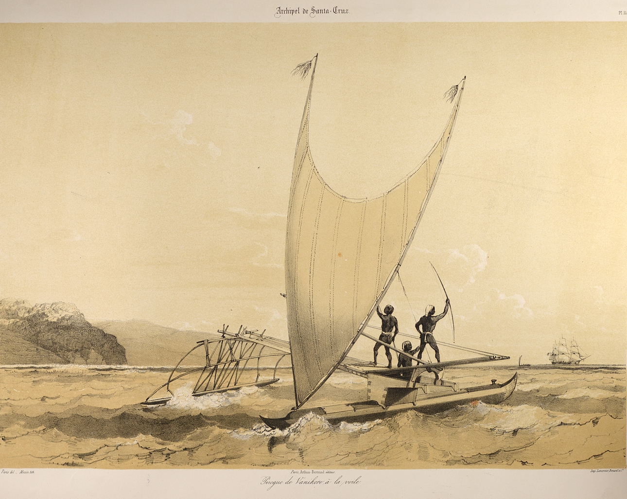 Les premières pirogues utilisées par nos ancêtres ressemblaient sans doute à ce modèle des îles Salomon au 18e siècle