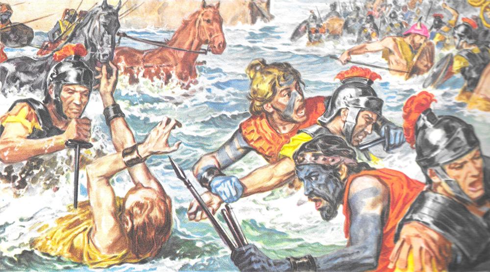 Lorsque Jules César entreprit la conquête de la Bretagne (actuelle Angleterre), ses armées se retrouvèrent à lutter face à des troupes de guerriers couverts de tatouages, d'où le nom de Breton qui leur fut donné, du celtique pretani, signifiant tatoué.