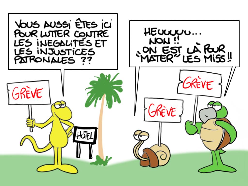 """Grève à l'InterContinental"", par Munoz"