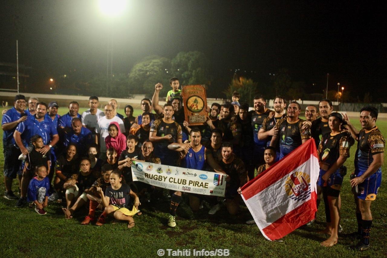 Le RC Pirae, champion 2019 de rugby à XV
