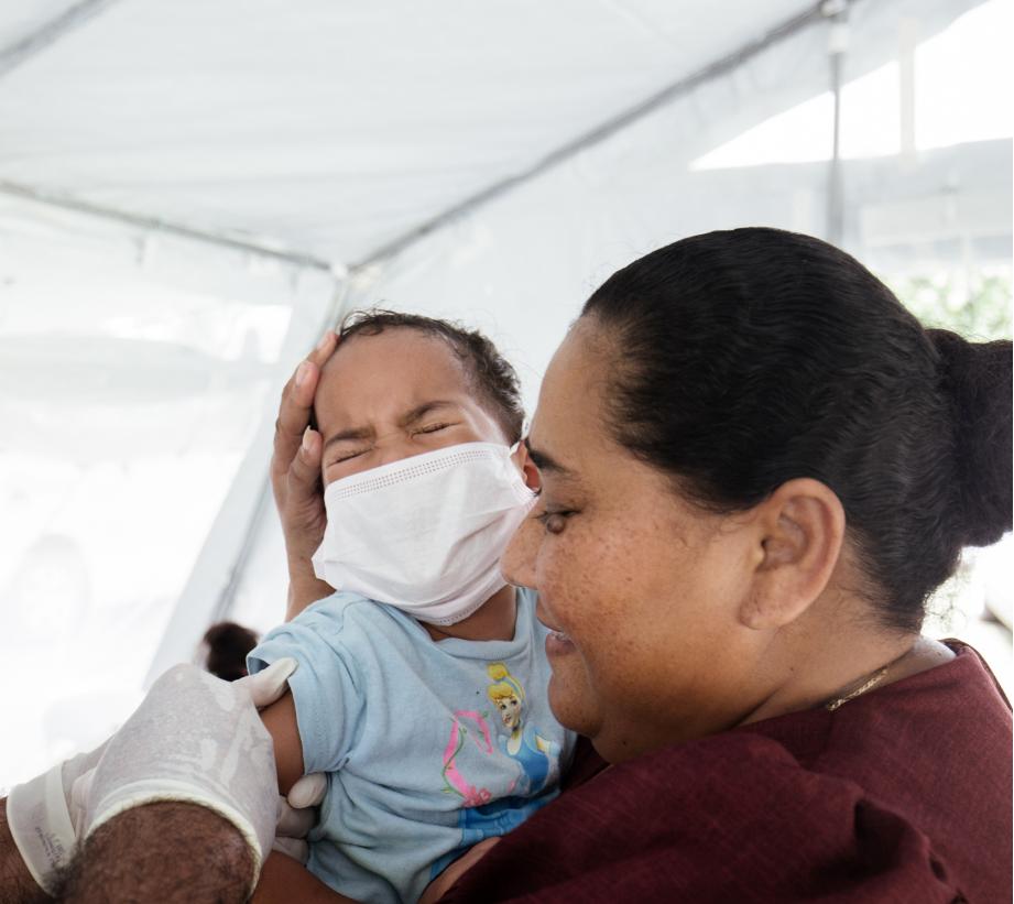 Soixante-dix personnes sont mortes de la rougeole au Samoa. CREDIT AFP PHOTO _ UNICEF _ ALLAN STEPHEN