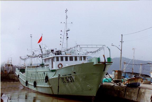 """Photographie du """"Han Yi 37"""" dont proviennent les sacs plastiques retrouvés à Faaone."""