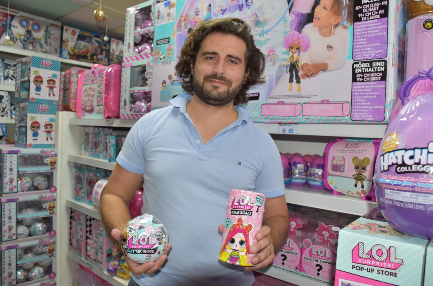 Mathieu Wygoda, directeur du magasin Jouet Club à Faa'a.