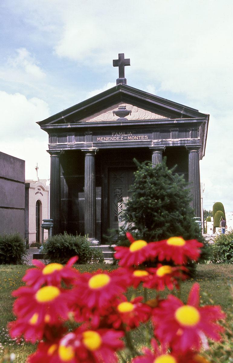Toutes les grosses familles coloniales sont présentes dans le cimetière, à travers des tombes qui sont parfois de véritables temples édifiés en hommage à leur gloire passée.