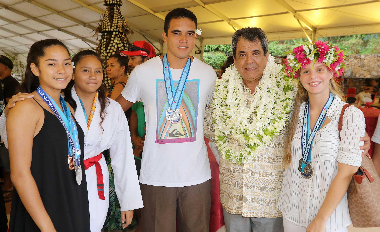 Les champions de taekwondo tahitiens ont été reçus à la Présidence