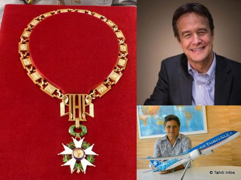 Michel Monvoisin et Richard Bailey décorés chevaliers de la Légion d'honneur
