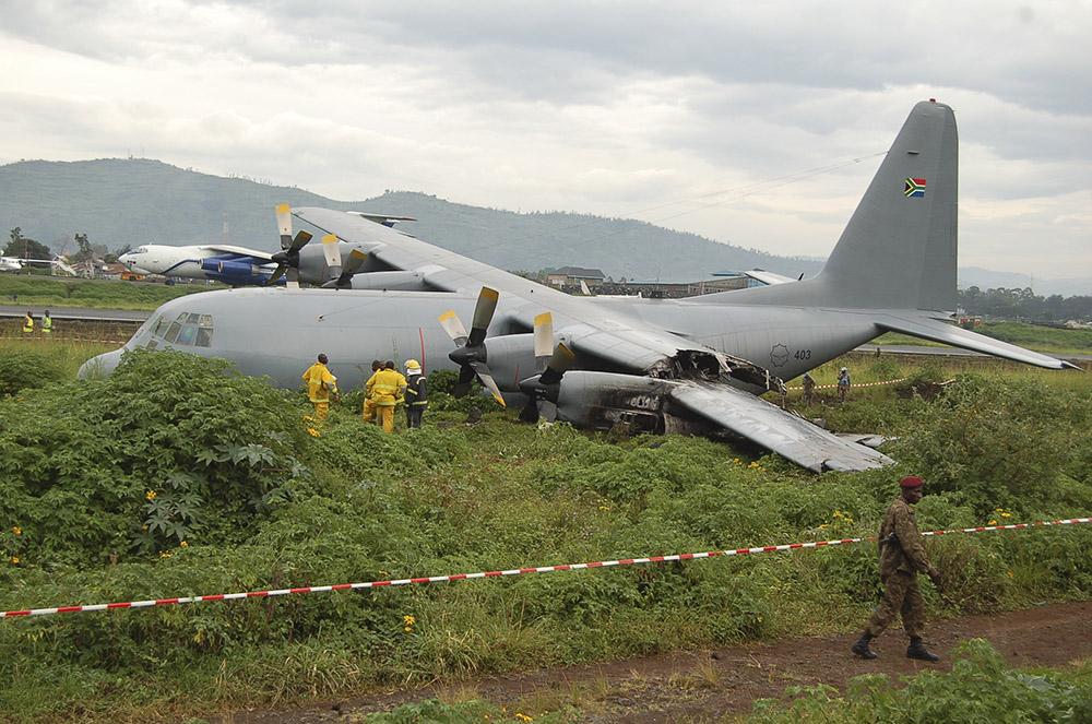 RDC: un avion militaire rate son atterrissage à Goma, pas de victime