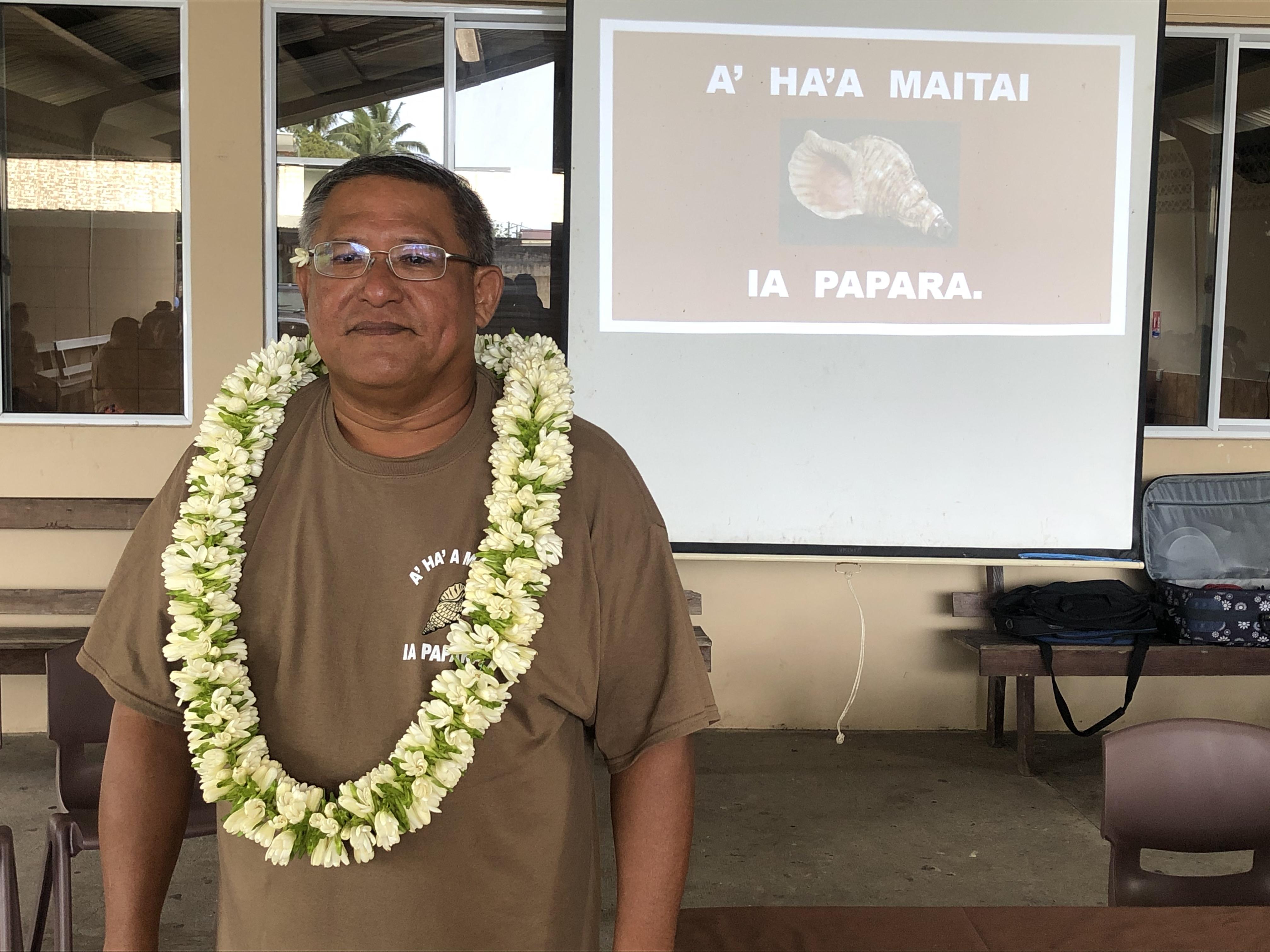 """""""Mon équipe et moi sommes prêts à gérer la commune de Papara où il y a eu trop d'injustice au cours des dernières années"""", a affirmé Paul Lai leader de la liste A ha'amata'i ia Papara."""