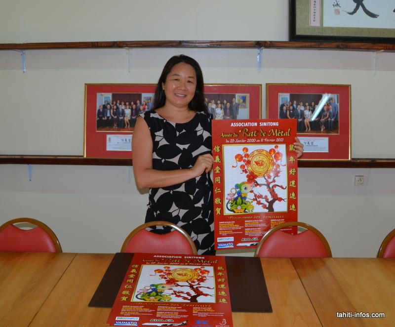 Cynthia Chin Foo, la présidente de l'association Si Ni Tong, présente les festivités prévues pour le Nouven an chinois