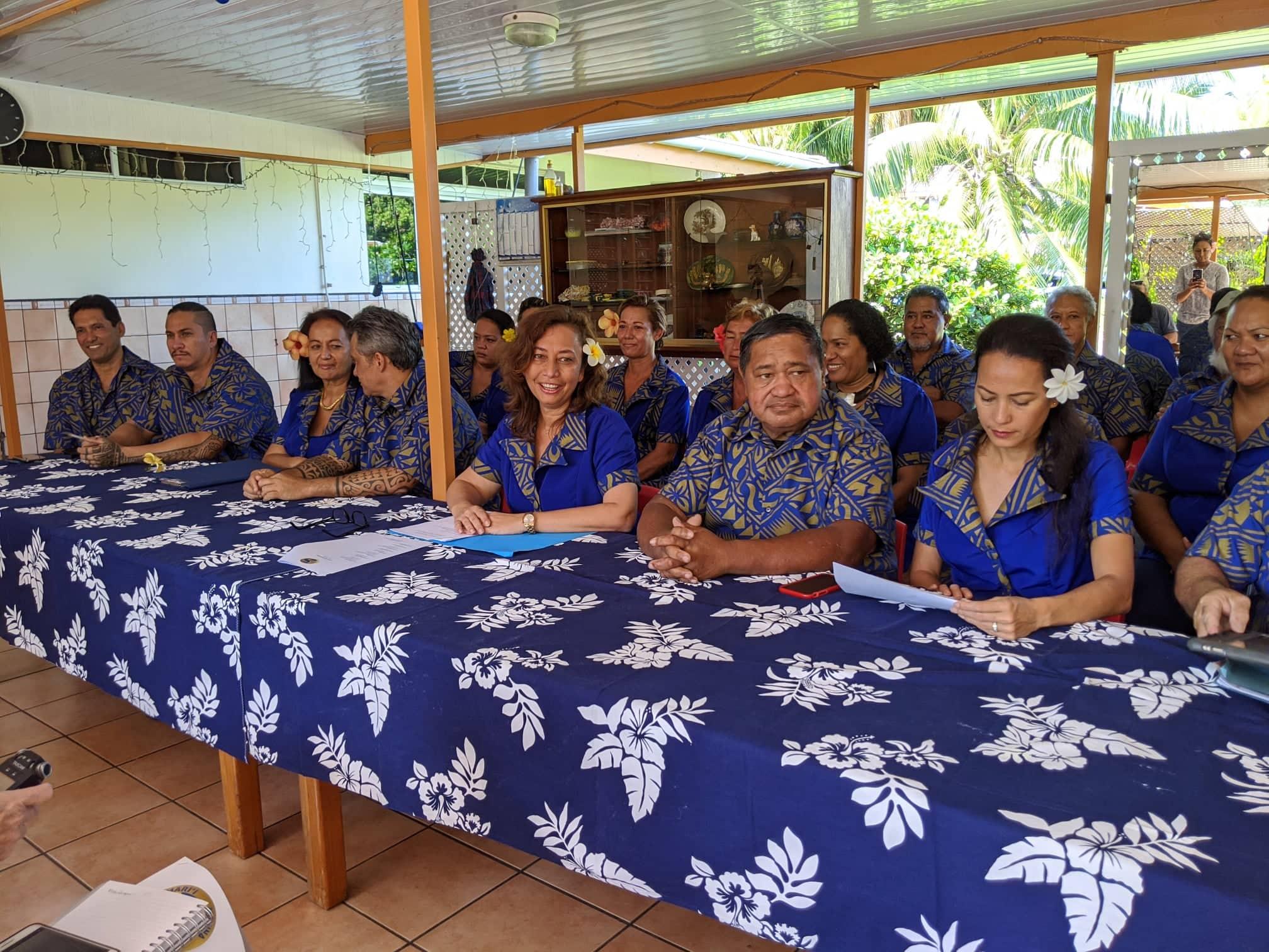 La député Nicole Sanquer a présenté ce samedi matin à Mahina les noms et les visages de ses 32 colistiers.