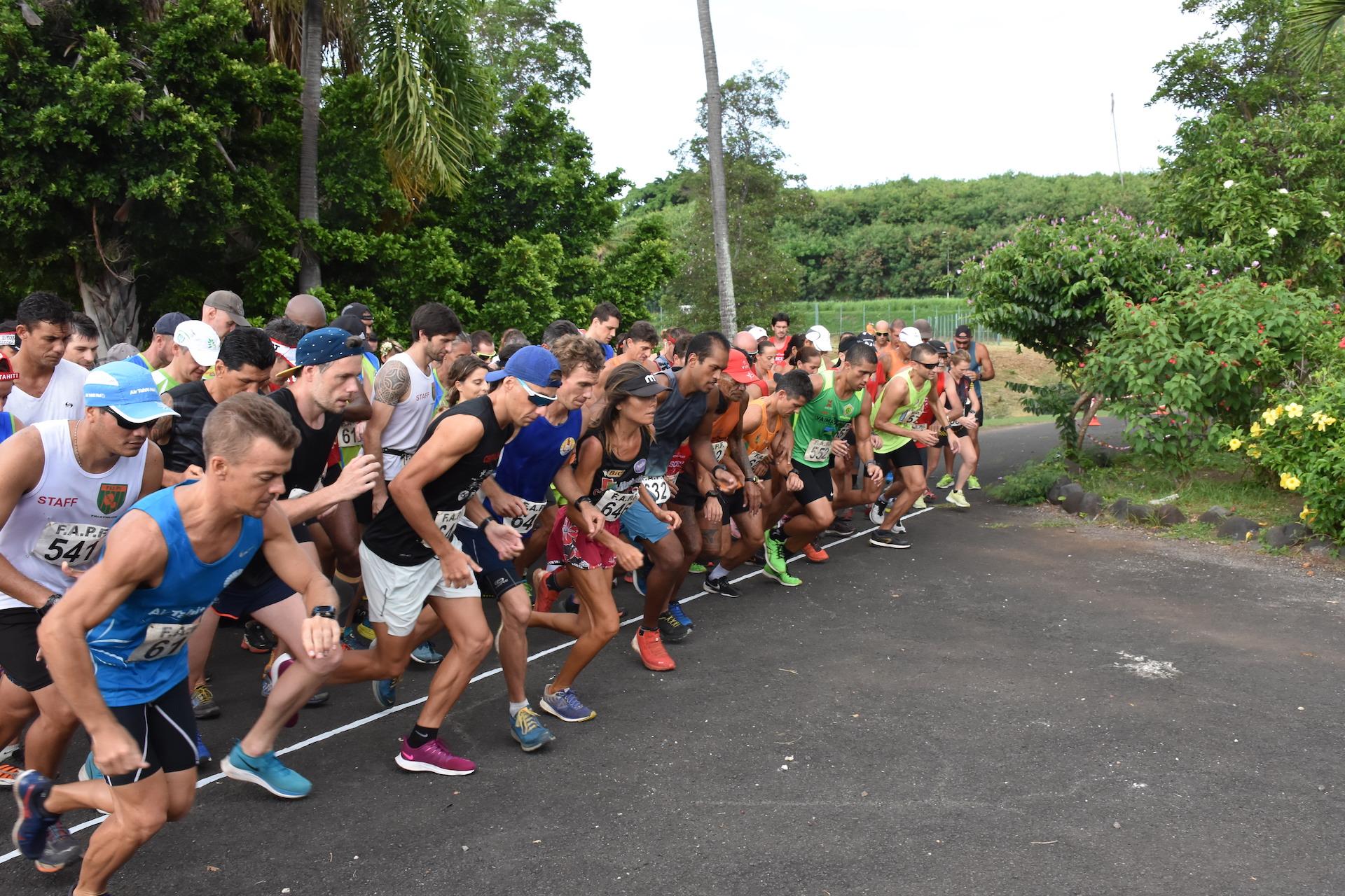 Les athlètes devaient effectuer quatre boucles de 2 kilomètres autour du parc Vairai à Punaauia.