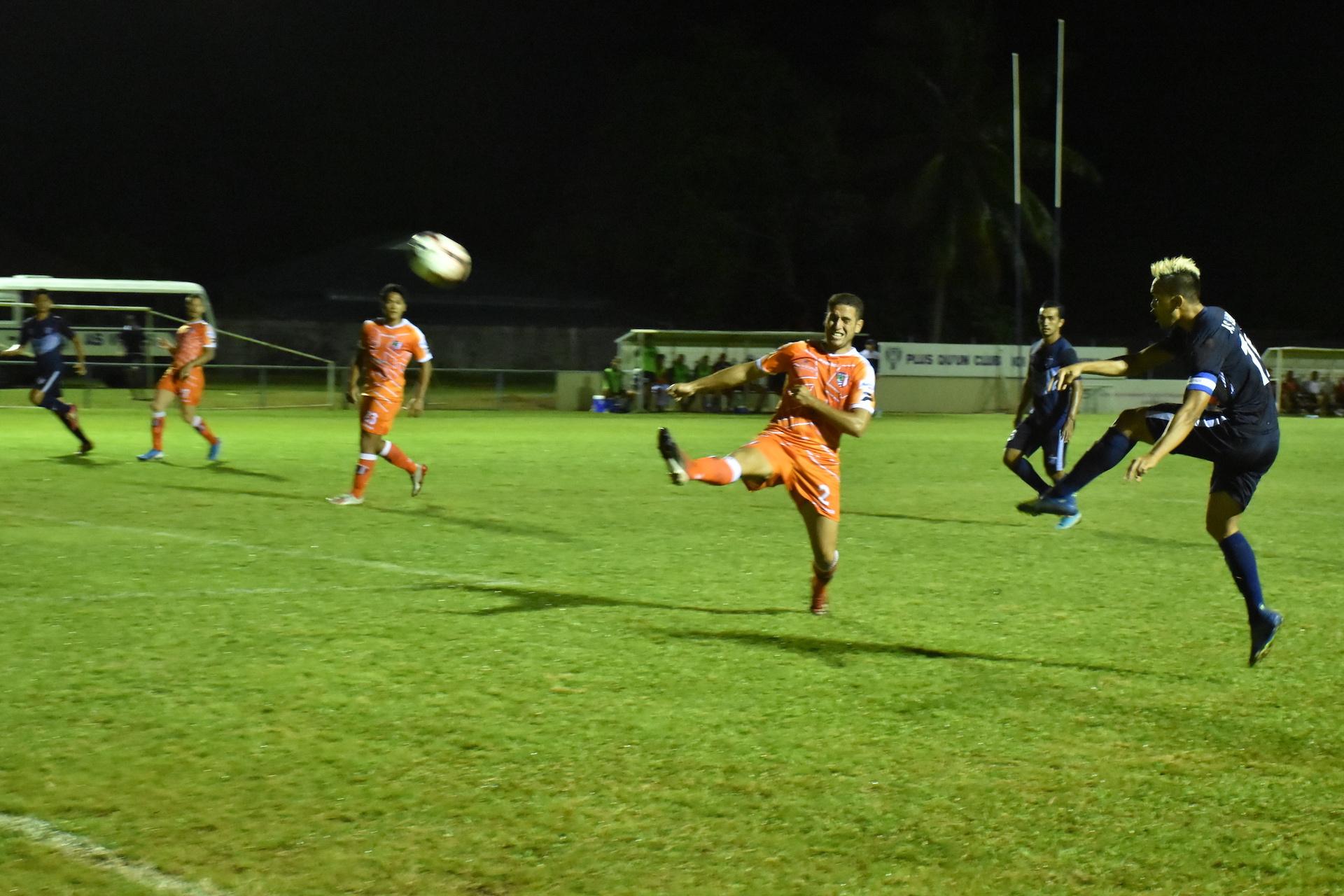 Teaonui Tehau s'est de nouveau illustré avec trois buts lors de la rencontre.