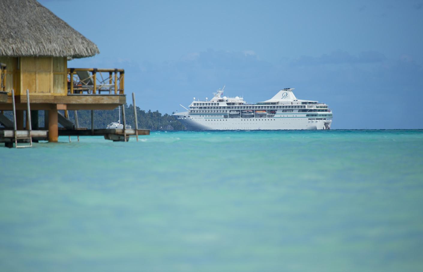 Les prestataires de Bora Bora pas contre la limitation des paquebots