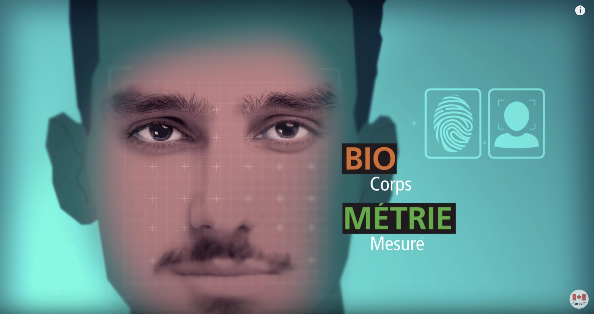 Les données biométriques consistent en une photo et la prise des empreintes digitales. Crédit : Immigration et Citoyenneté Canadienne.