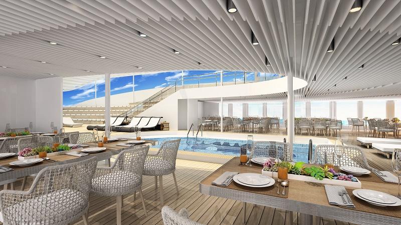 L'espace Pool Bar and Grill autour de la piscine.