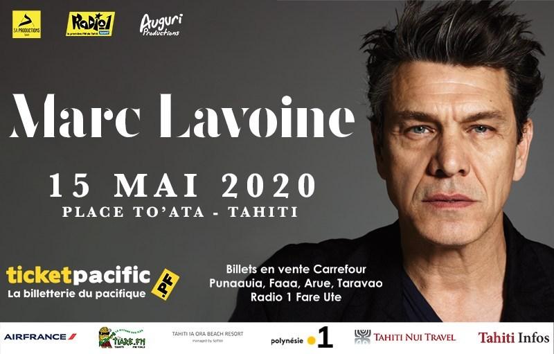 Marc Lavoine à To'atā le 15 mai prochain