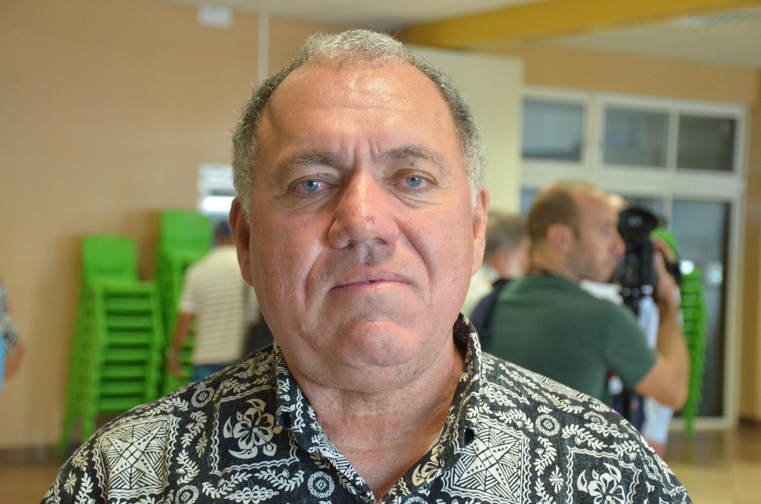 Yannick Lowgreen, président de l'association Tamarii Moruroa