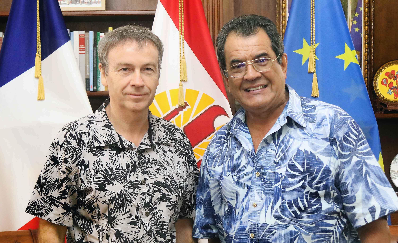 Édouard Fritch a reçu, vendredi, Jean-François Tanneau, directeur régional des Douanes.