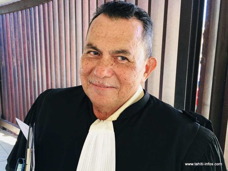 Me Stanley Cross, l'avocat des quatre ex-salariés de l'hôtel Intercontinental Moorea.