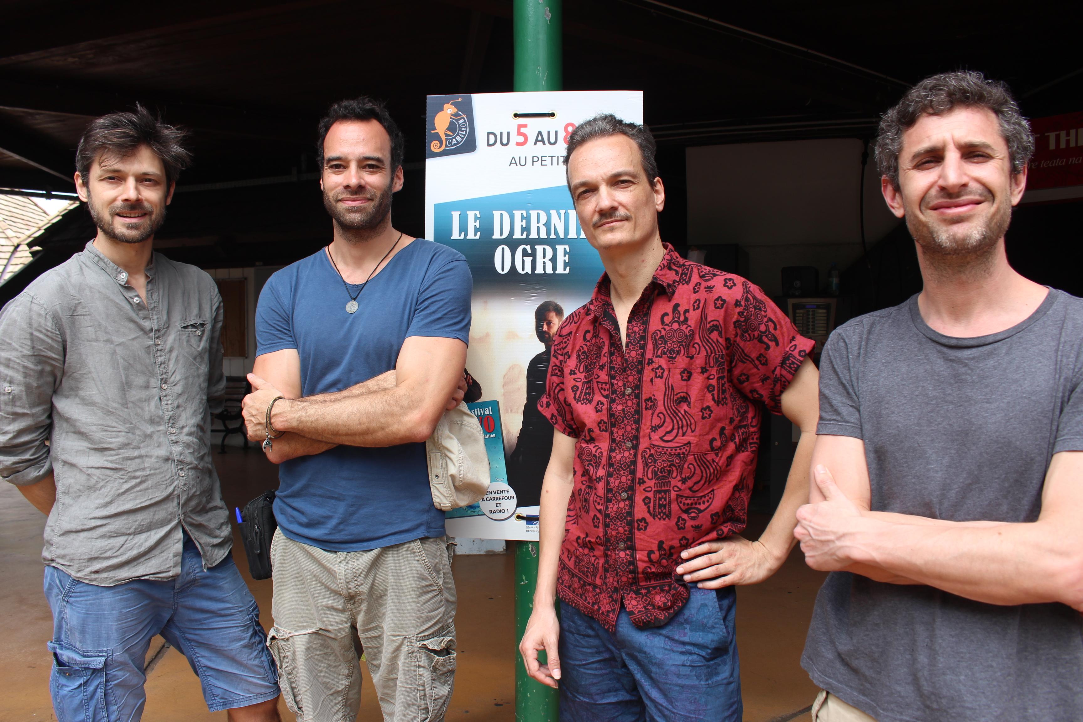 De gauche à droite : Samuel Poncet, Marien Tillet, Mathias Castagné et Pierre-Alain Vernette, le régisseur.