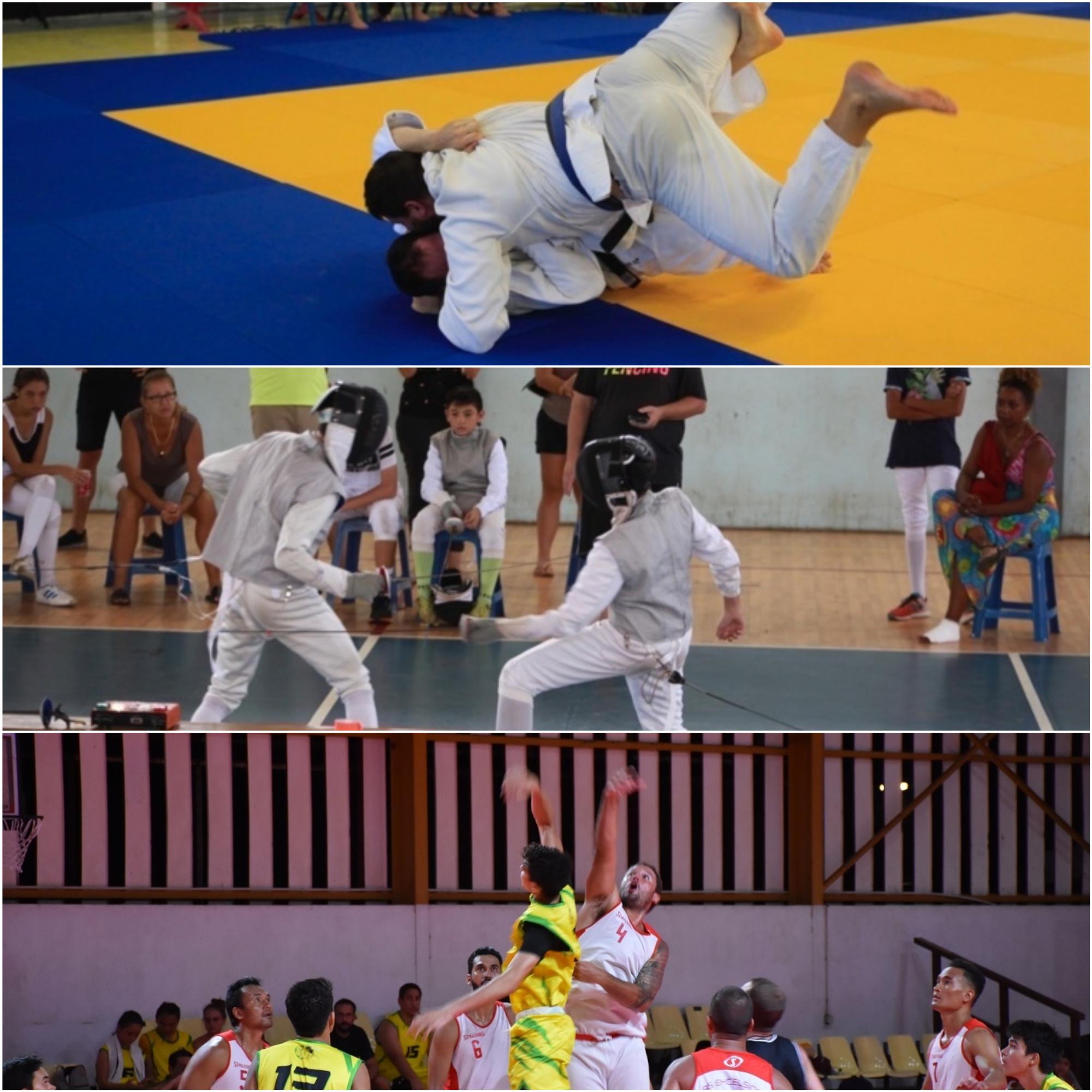 Le judo, le basket,  et l'escrime en pause