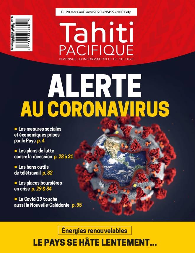 À la UNE de Tahiti Pacifique vendredi 20 mars 2020
