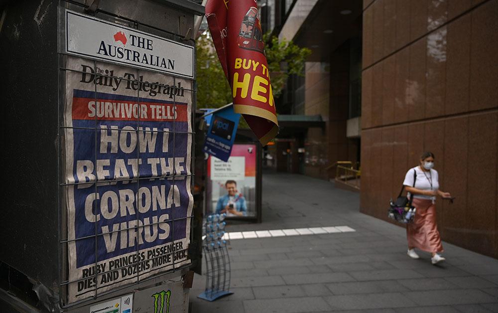 Coronavirus: suspension de l'impression de 60 journaux australiens