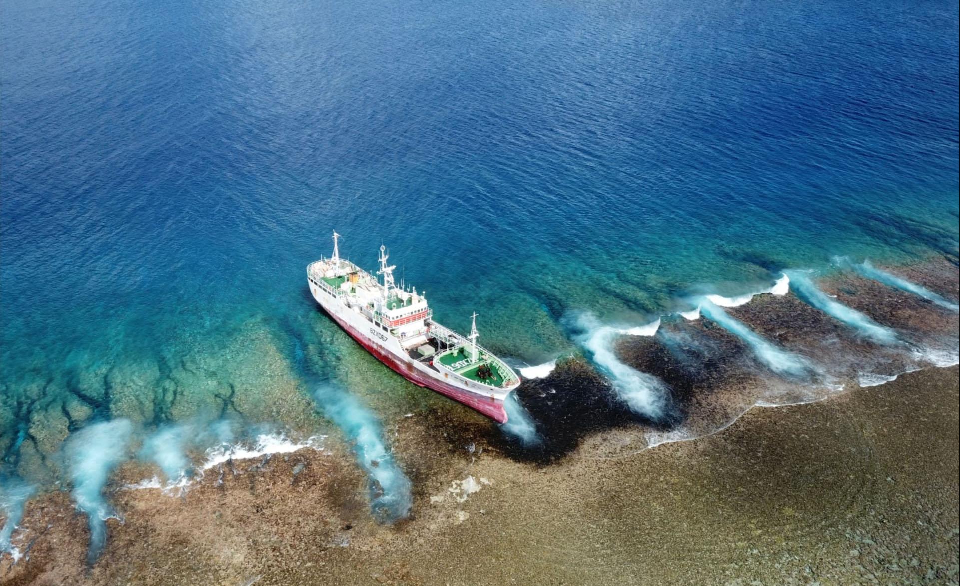 L'équipe du Pays dépêchée sur l'atoll a notamment constaté une zone du récif noircie longue de plusieurs dizaines de mètres.