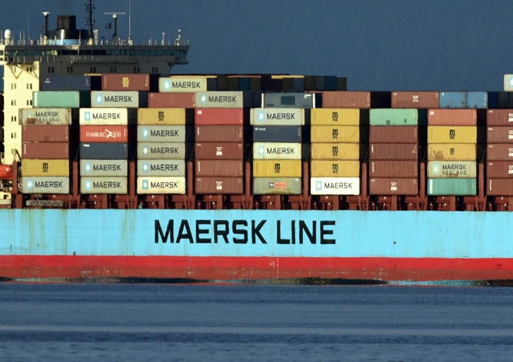 Photo d'illustration d'un porte-conteneurs Maersk.