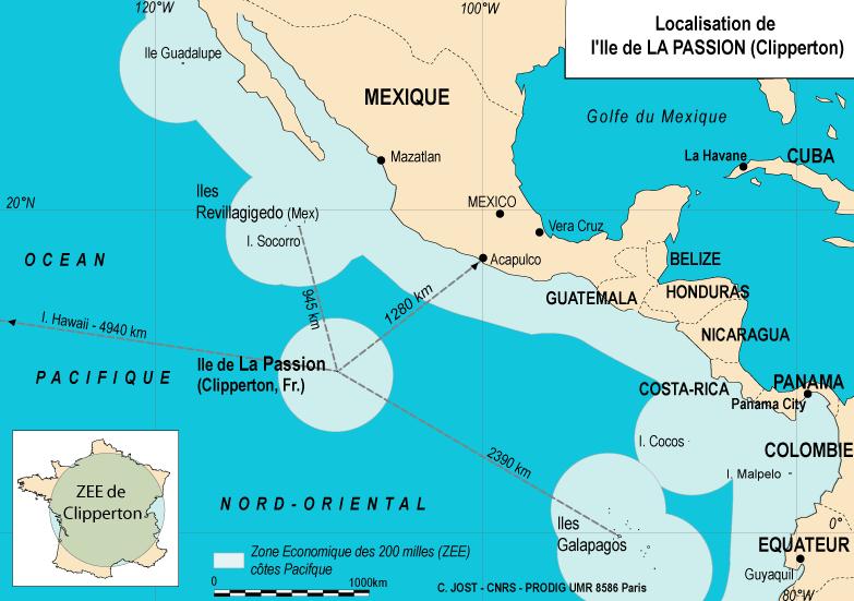Au large des côtes mexicaines, Clipperton est d'un grand intérêt stratégique mais la France n'a jamais été capable d'y faire quoi que ce soit de durable.
