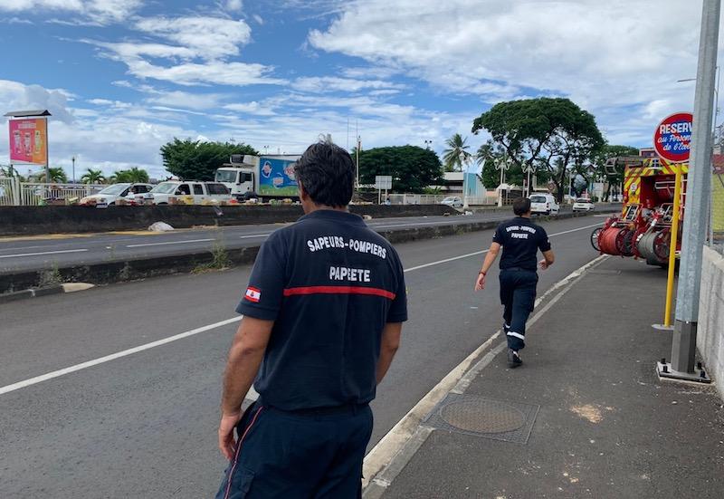Un camion renverse sa marchandise en sortie de RDO