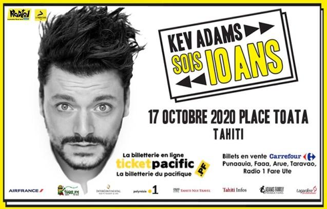 Le spectacle de Kev Adams à To'ata reporté au 17 octobre