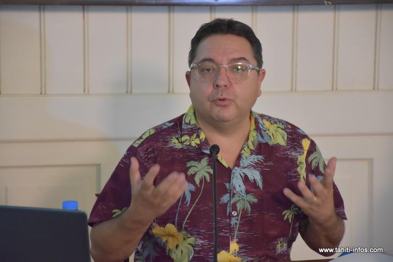 Thierry Delmas, le directeur de la Direction générale de l'éducation et des enseignements de Polynésie française.