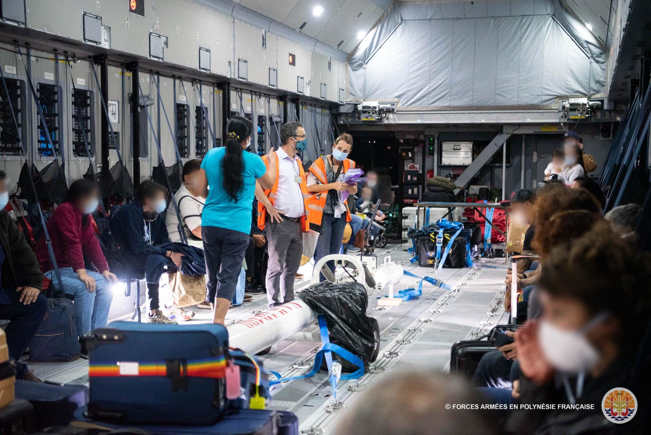 Des Polynésiens d'Australie rapatriés sur l'A400M
