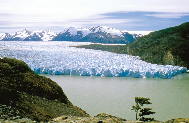Le Glacier Grey est la partie sud du grand Campo de Hielo Sur, gigantesque calotte glaciaire barrant la Patagonie chilienne.