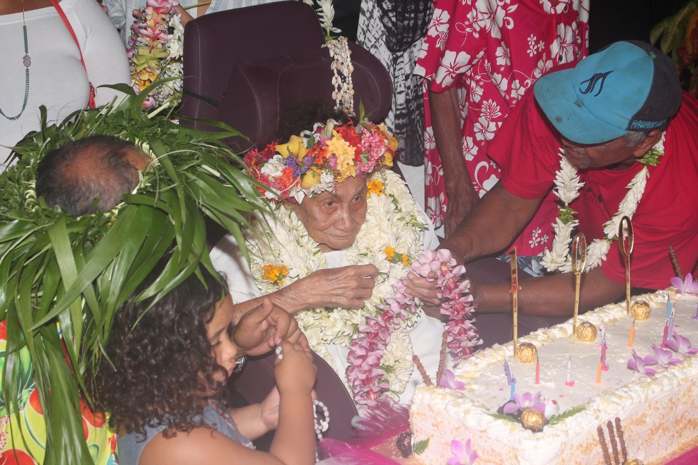 Tetara Hioe a soufflé ses 100 bougies mercredi dernier.